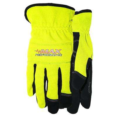 Max Grip High Vis Work Gloves