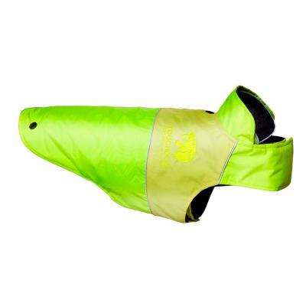 Medium Sun Yellow and Gold Lightening-Shield Waterproof 2-in-1 Convertible Dog Jacket with Blackshark Technology