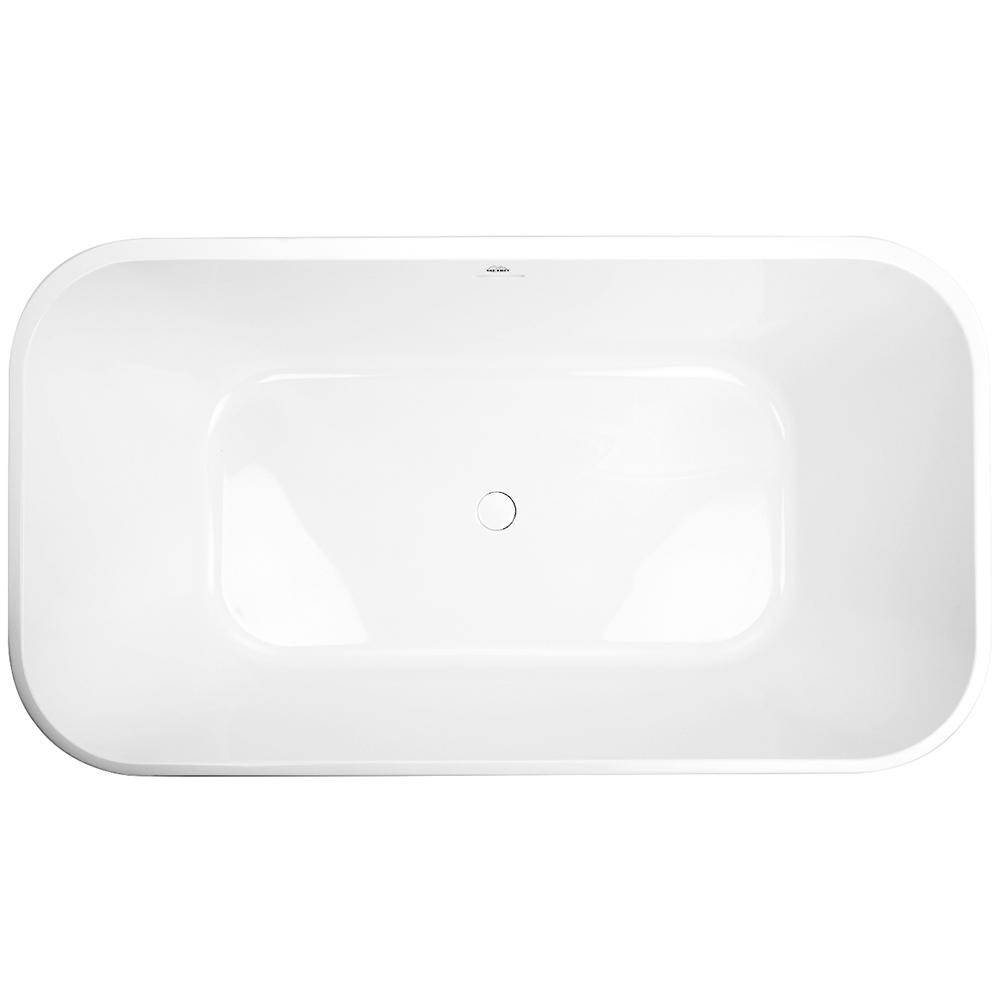 Summerlin 5 ft. Acrylic Flatbottom Non-Whirlpool Freestanding Bathtub in White