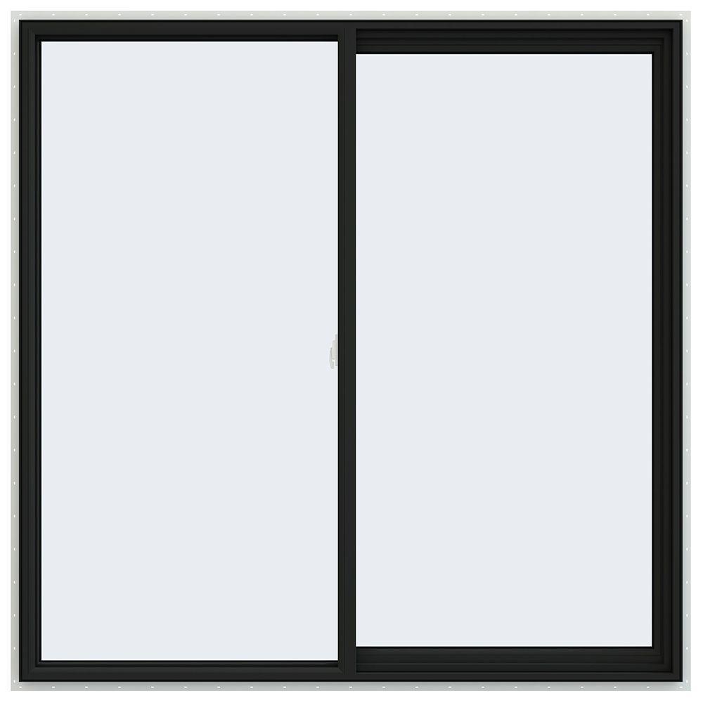 JELD-WEN 59.5 in. x 59.5 in. V-2500 Series Right-Hand Sliding Vinyl Window - Bronze