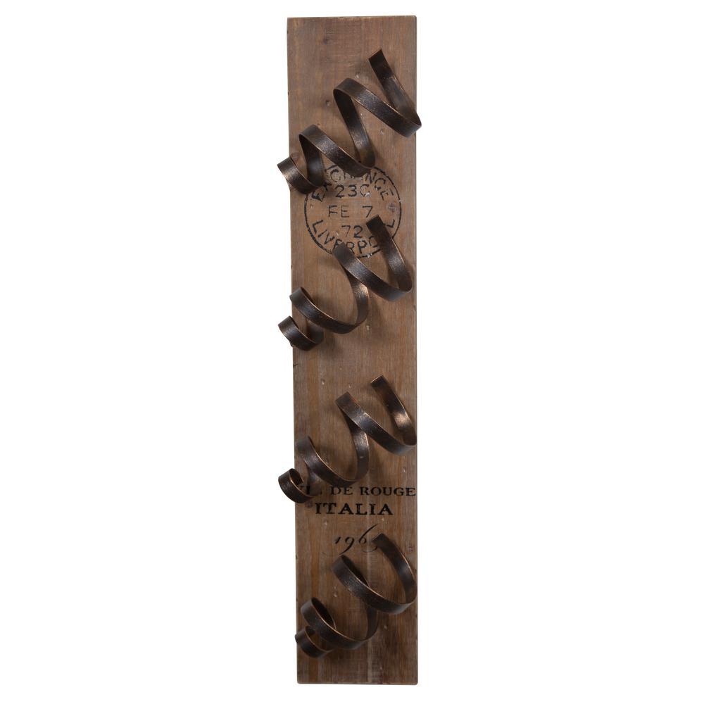 Pinnacle Farmhouse 6 in. W x 5 in. D Bronze Wine Holder Decorative Shelf