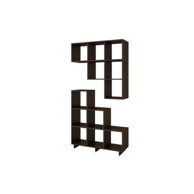 Cascavel 36.22 in. W x 11.41 in. D Tobacco Stair Cubbies (Set of 2)