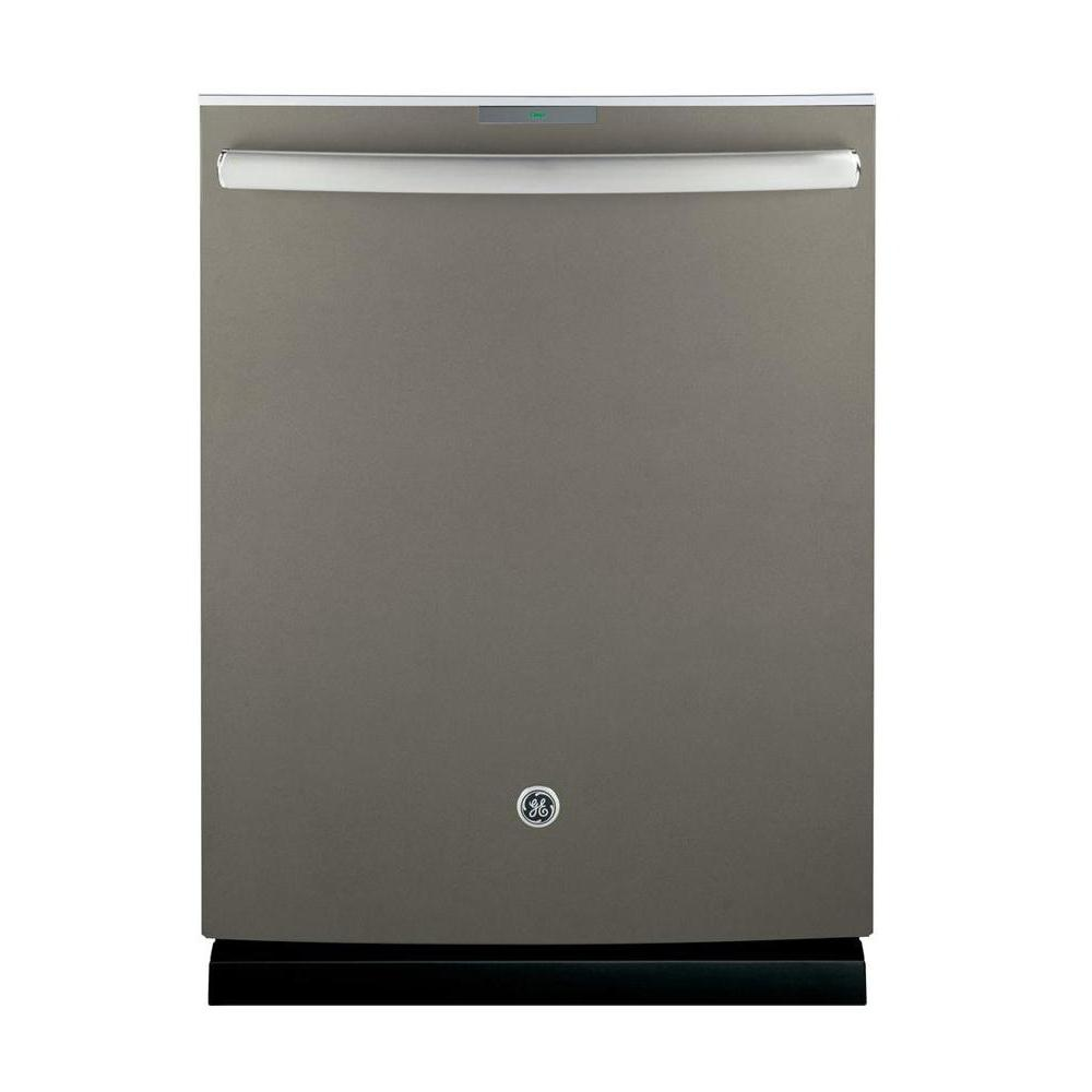 Top Control Built-In Tall Tub Dishwasher in Slate with Stainless Steel