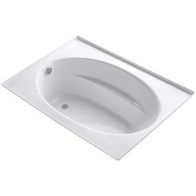 Windward 5 ft. Reversible Drain Bathtub with Four-Sided Integral Flange in White