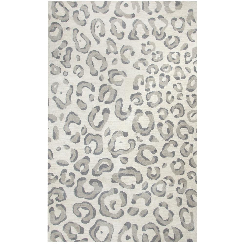 Rizzy Home Valintino Grey Animal Print 8 Ft X 10 Area Rug