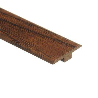Distressed Brown Hickory 7/16 in. Thick x 1-3/4 in. Wide x 72 in. Length Laminate T-Molding