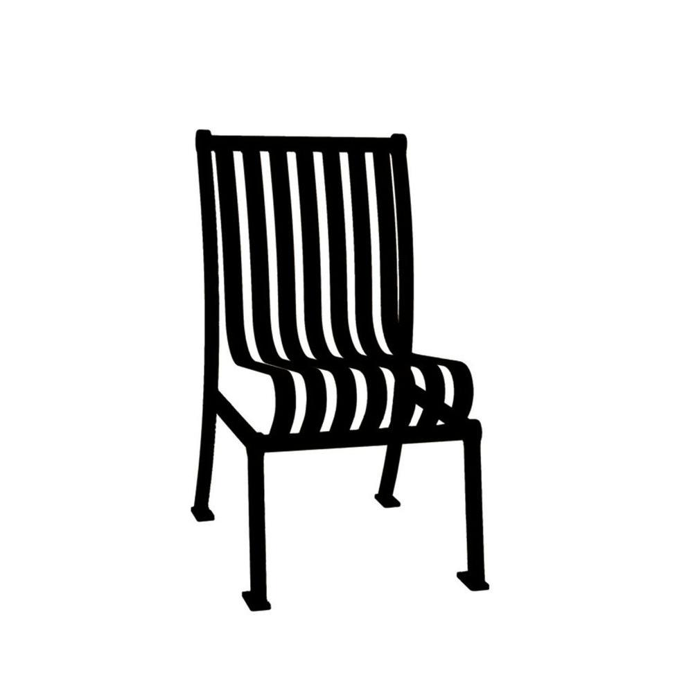 Marvelous Ultra Play Black Commercial Park Hamilton Portable Patio Chair With No Arms Surface Mount And Vertical Slats Caraccident5 Cool Chair Designs And Ideas Caraccident5Info