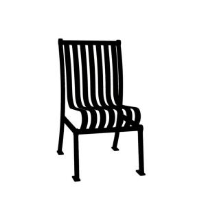 Ultra Play Black Commercial Park Hamilton Portable Patio Chair with No Arms... by Ultra Play