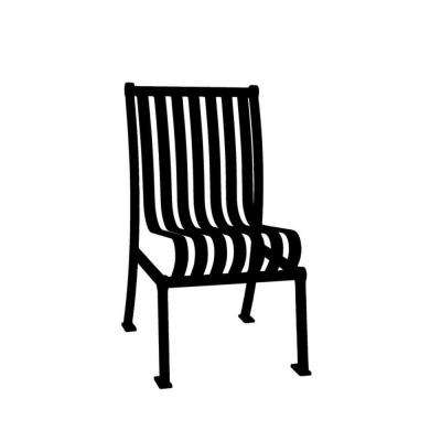 Black Commercial Park Hamilton Portable Patio Chair with No Arms Surface Mount and Vertical Slats