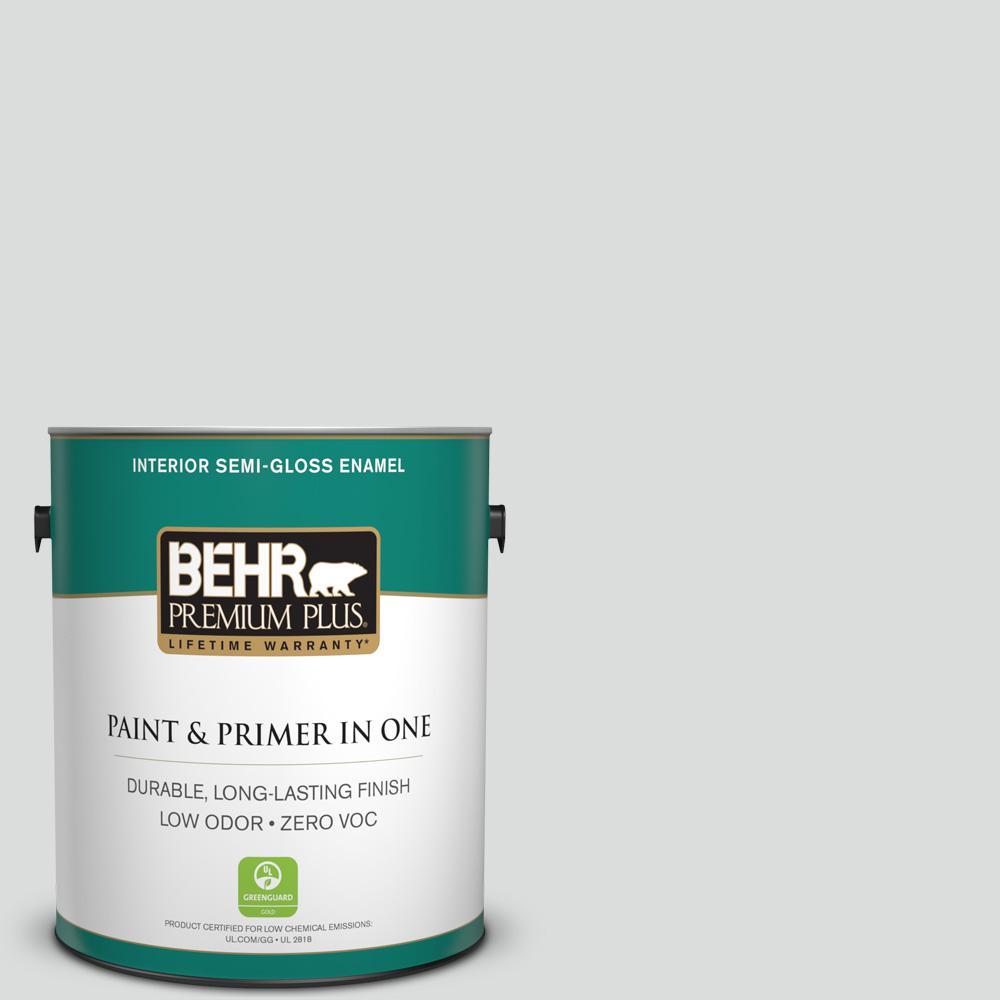 BEHR Premium Plus 1-gal. #N530-1 Pixel White Semi-Gloss Enamel Interior Paint