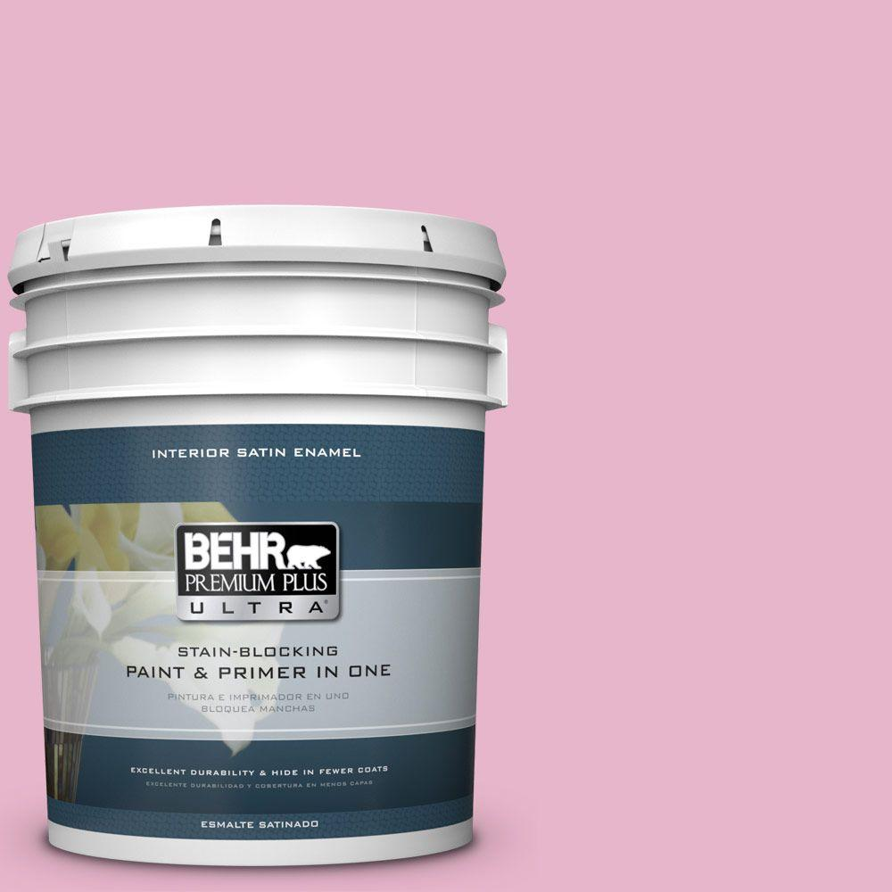 5 gal. #HDC-SP16-10 Japanese Rose Garden Satin Enamel Interior Paint