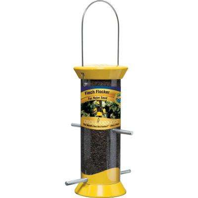 8 in. New Generation Plastic Finch Flocker Nyjer Seed Bird Feeder