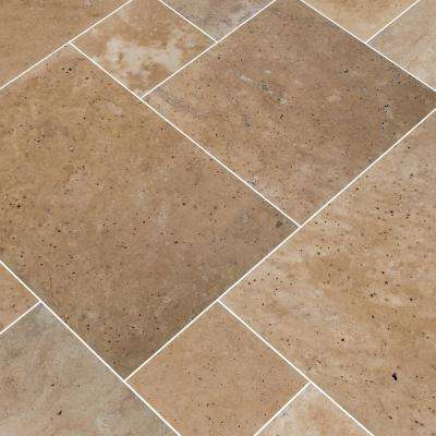 Tuscany Beige Pattern Tumbled Travertine Paver Kit (10 Kits / 160 sq. ft. / pallet)