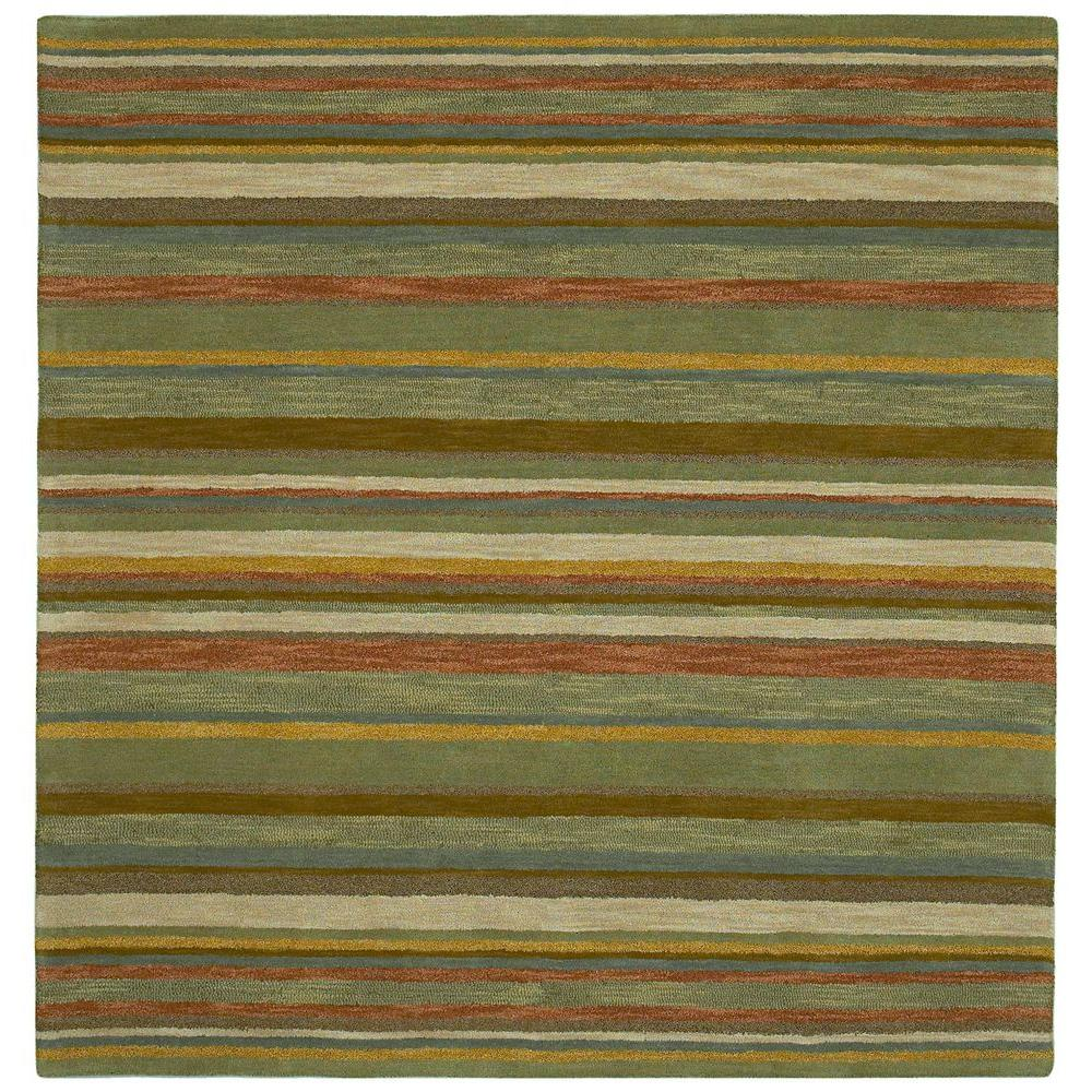 Kaleen Tara Twilight Natural 5 ft. 9 in. x 5 ft. 9 in. Square Area Rug