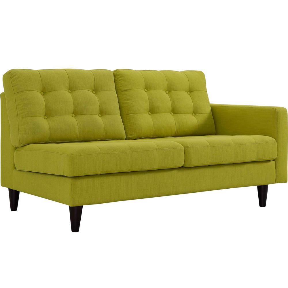 Empress Wheatgrass Right-Fac g Upholstered Fabric Loveseat