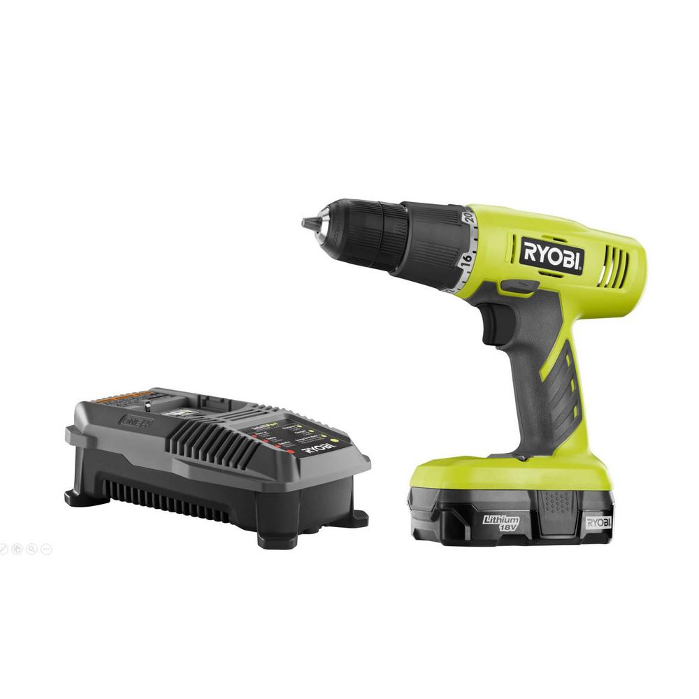 ryobi 18-volt one+ lithium-ion cordless 3/8 in. drill/driver kit