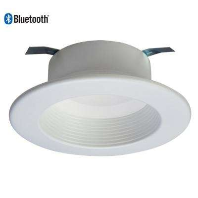 4 in. White Smart Bluetooth Integrated LED Recessed Downlight with Adjustable Color Temperature (2700K-5000K)