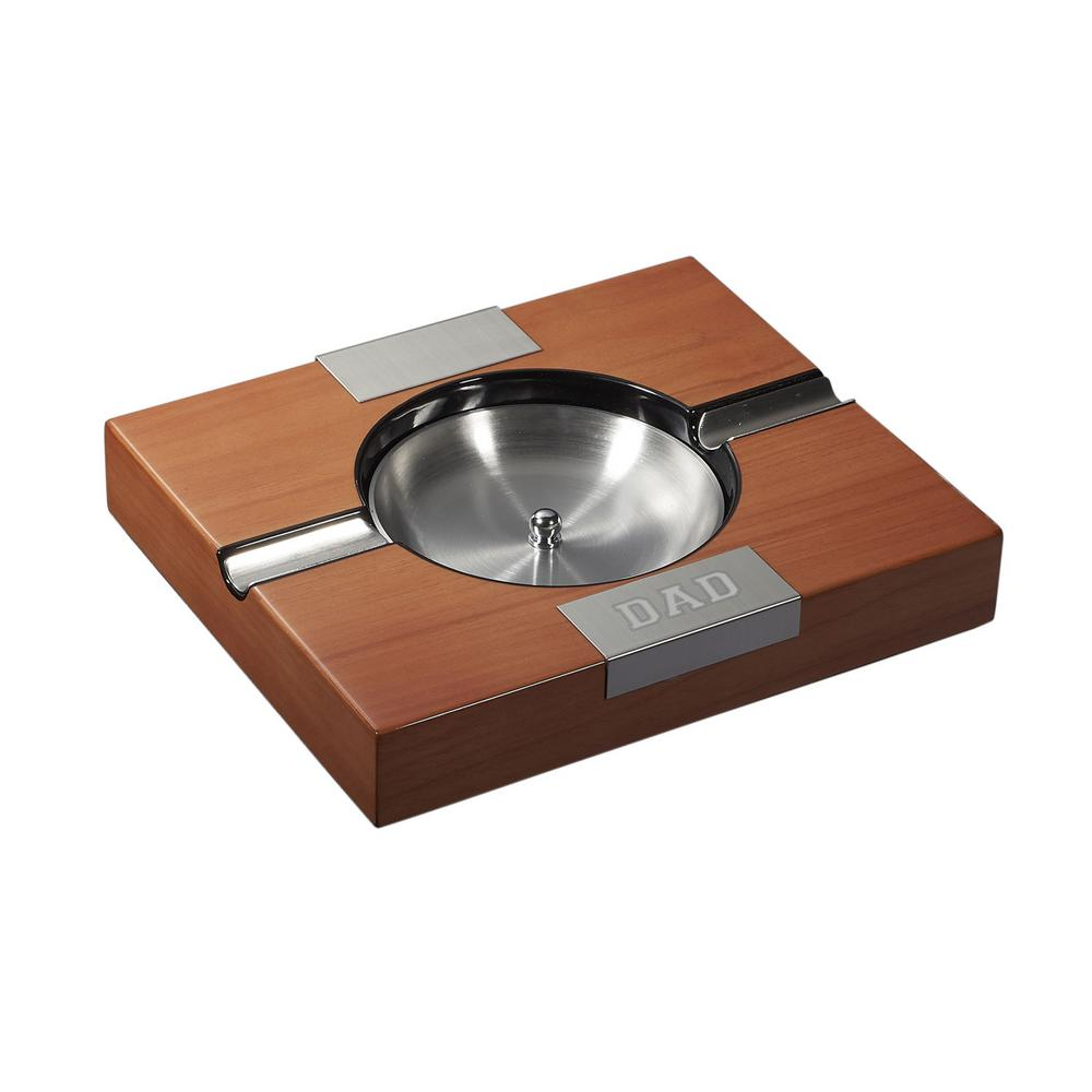 Maho Walnut Wooden Cigar Ashtray - Father's Day Edition