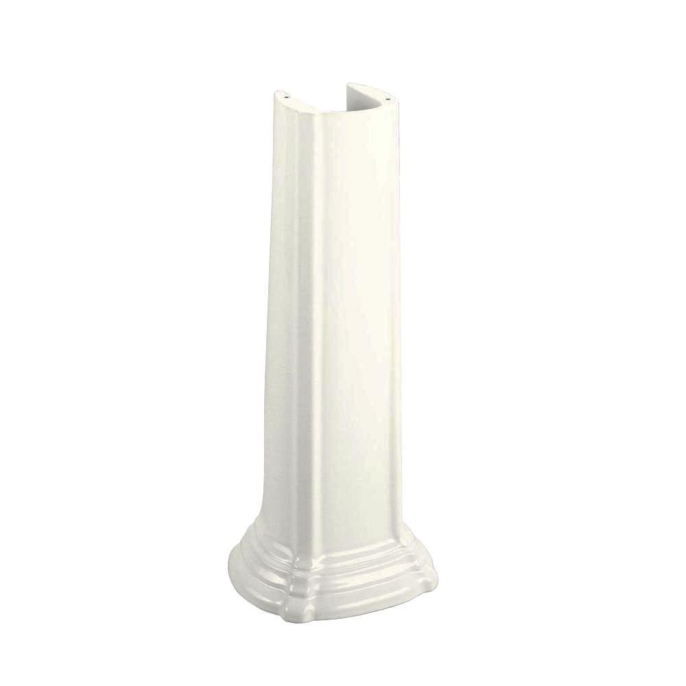 Portrait Bathroom Sink Vitreous China Pedestal in White
