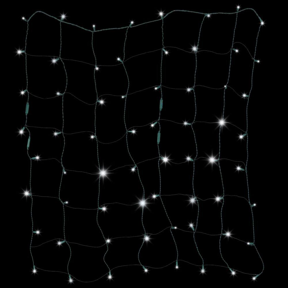 LightShow 70-Light LED White Starry Night Net Light Set