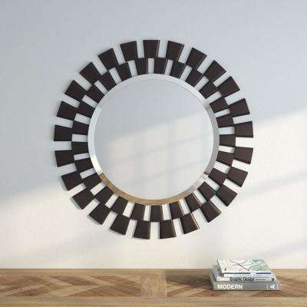 36 in. H x 36 in. W Framed Wall Mirror