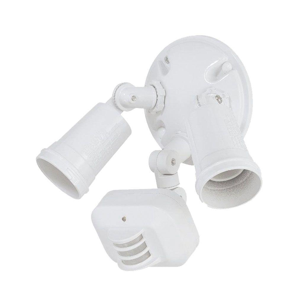 Acclaim Lighting 2 Light White Motion Activated Outdoor Flood