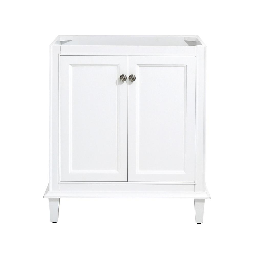 Home Decorators Collection Riverpine 30 In W X 22 D Vanity Cabinet Only White