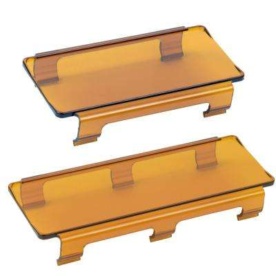 Amber 6 in. and 8 in. Light Bar Covers (2-Pack)