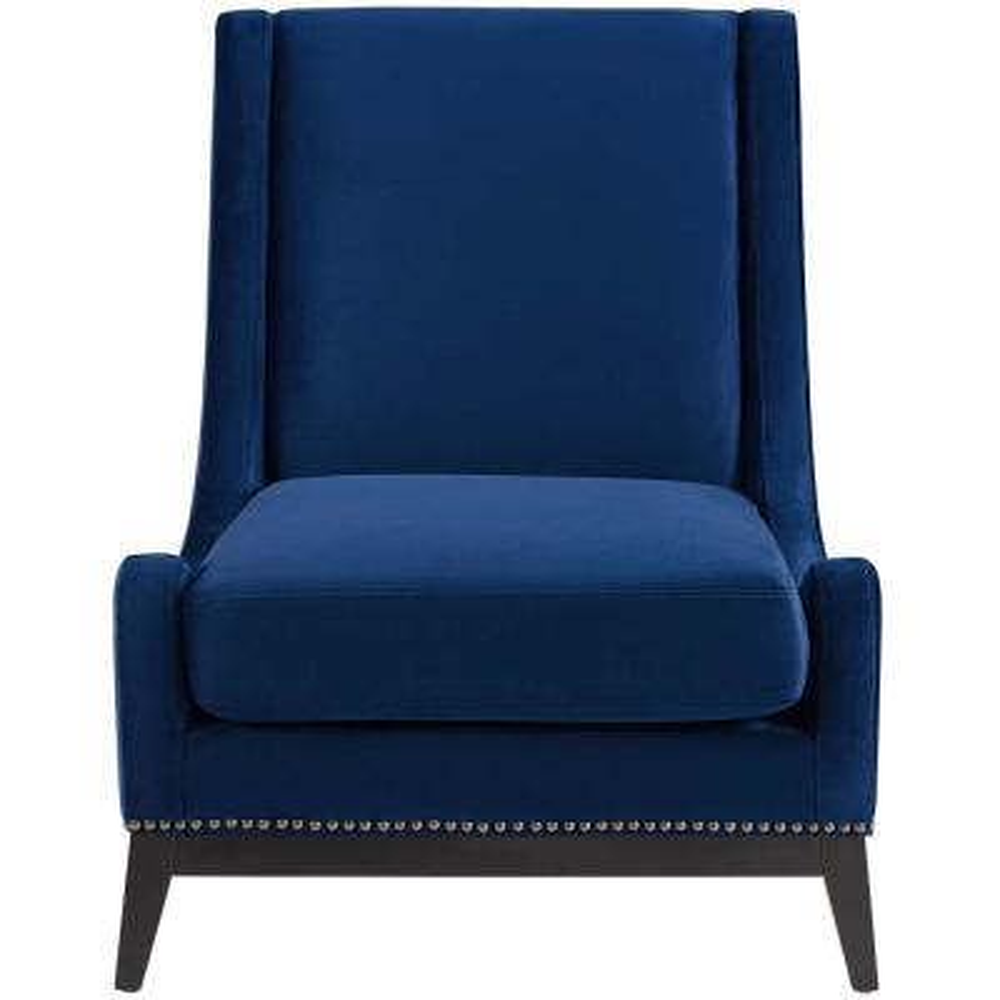 Confident Accent Navy Upholstered Performance Velvet Lounge Chair