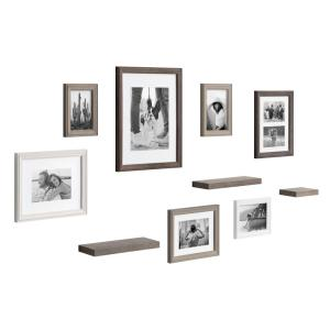 Bordeaux Multi/Gray with Shelves Picture Frames (Set of 10)