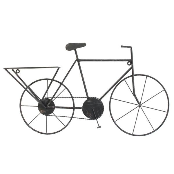 Stonebriar Collection Black Metal Bicycle Wall Art