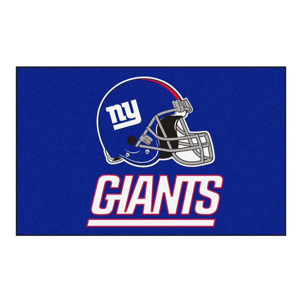 FANMATS NFL New York Giants Blue 1 ft. 7 in. x 2 ft. 6 in. Accent Rug