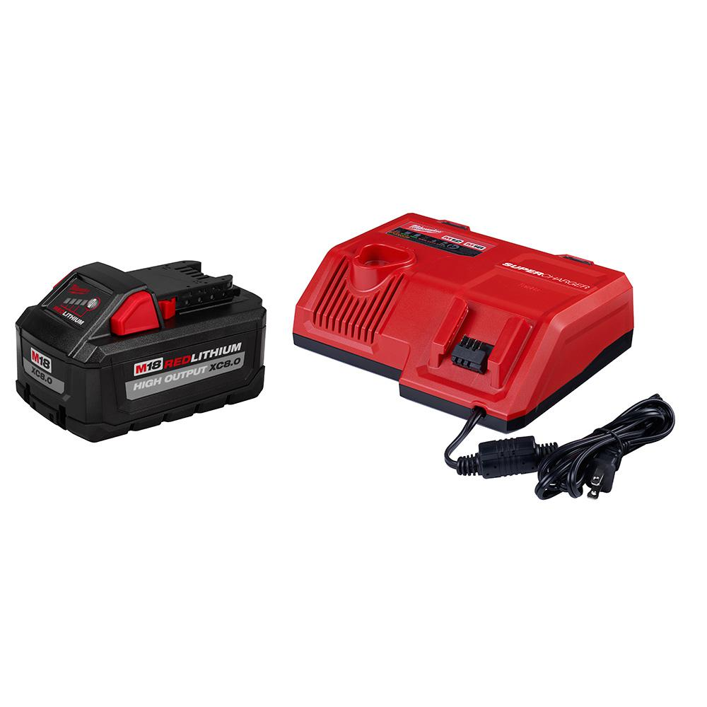 Milwaukee M12 and M18 12-Volt/18-Volt Lithium-Ion Multi-Voltage Super Battery Charger Starter Kit with 8.0 Ah High Output Battery was $299.0 now $189.0 (37.0% off)