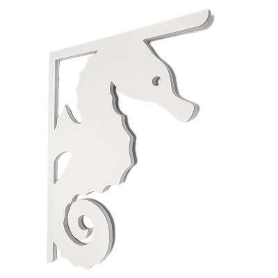 Decorative 16 in. Paintable PVC Seahorse Mailbox or Porch Bracket