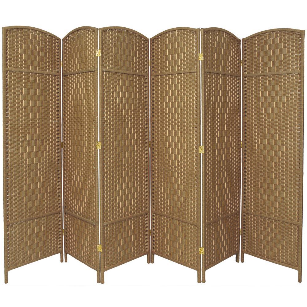 7 ft. Natural 6-Panel Room Divider