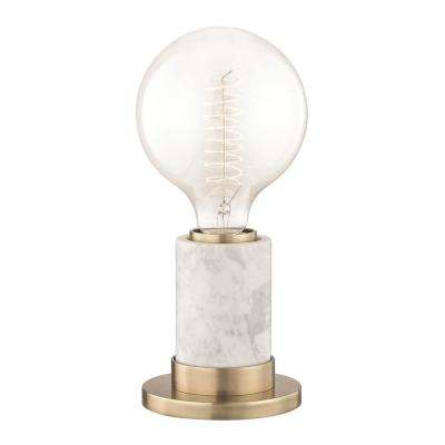 Asime 10 in. H Aged Brass Table Lamp