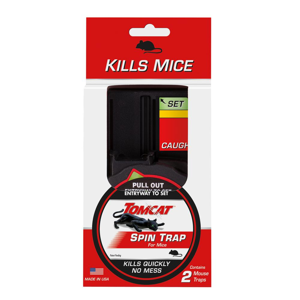 Tomcat Spin Traps for Mice (2-Pack)