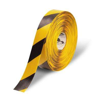 2 in. Safety Floor Tape in Yellow with Black Chevrons 100 ft. Roll