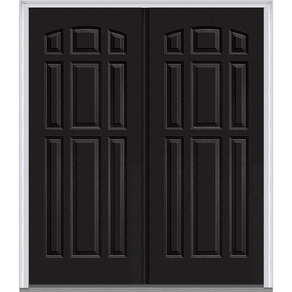 Black Double Doors Outside : Mmi door in panel painted fiberglass