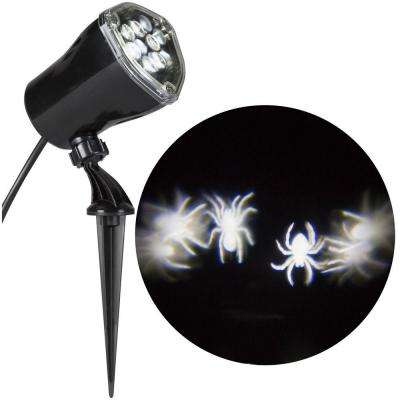 Whirl-A-Motion Spiders White Projection Spotlight