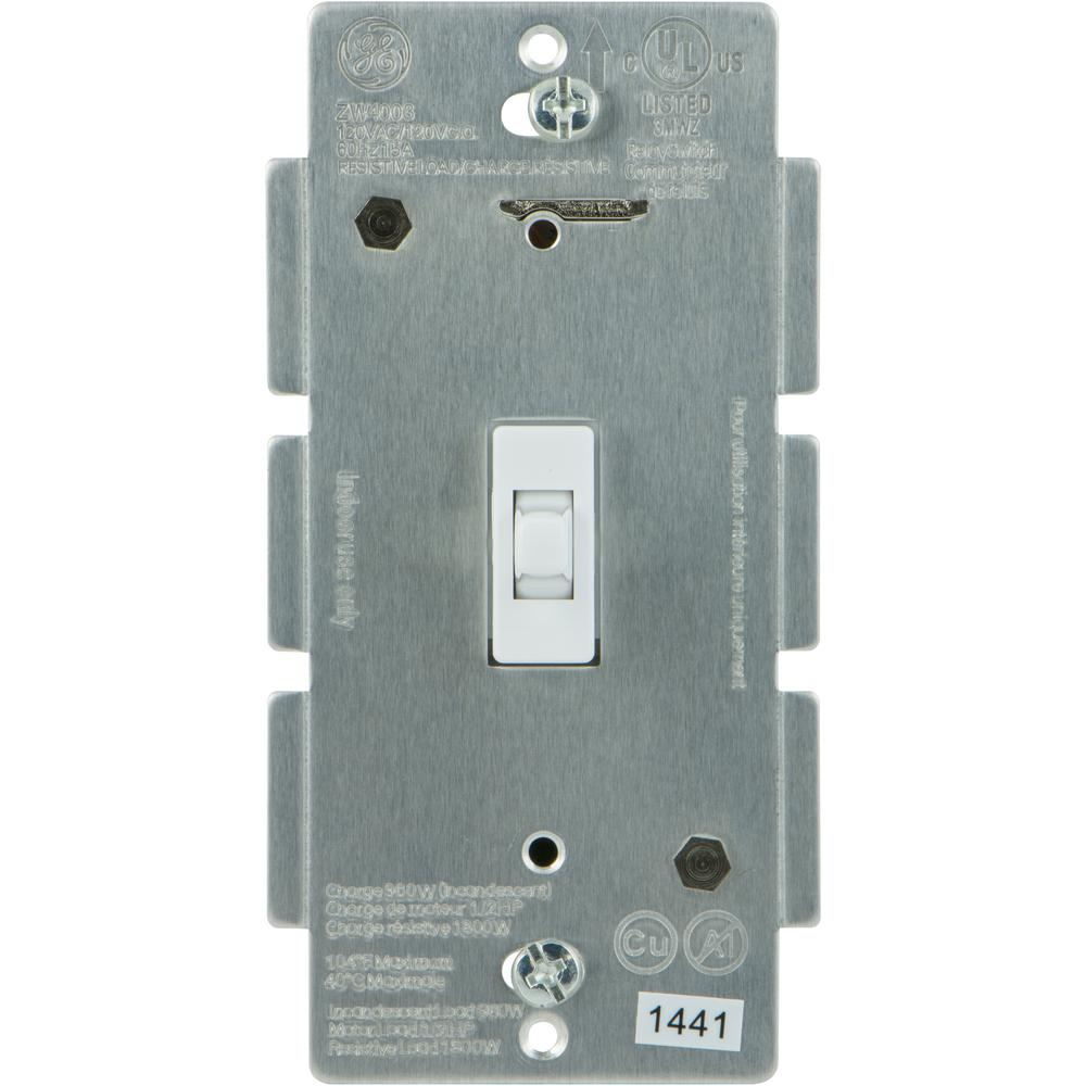 GE Z-Wave Plus In-Wall Smart Lighting Control Smart Toggle Switch ...