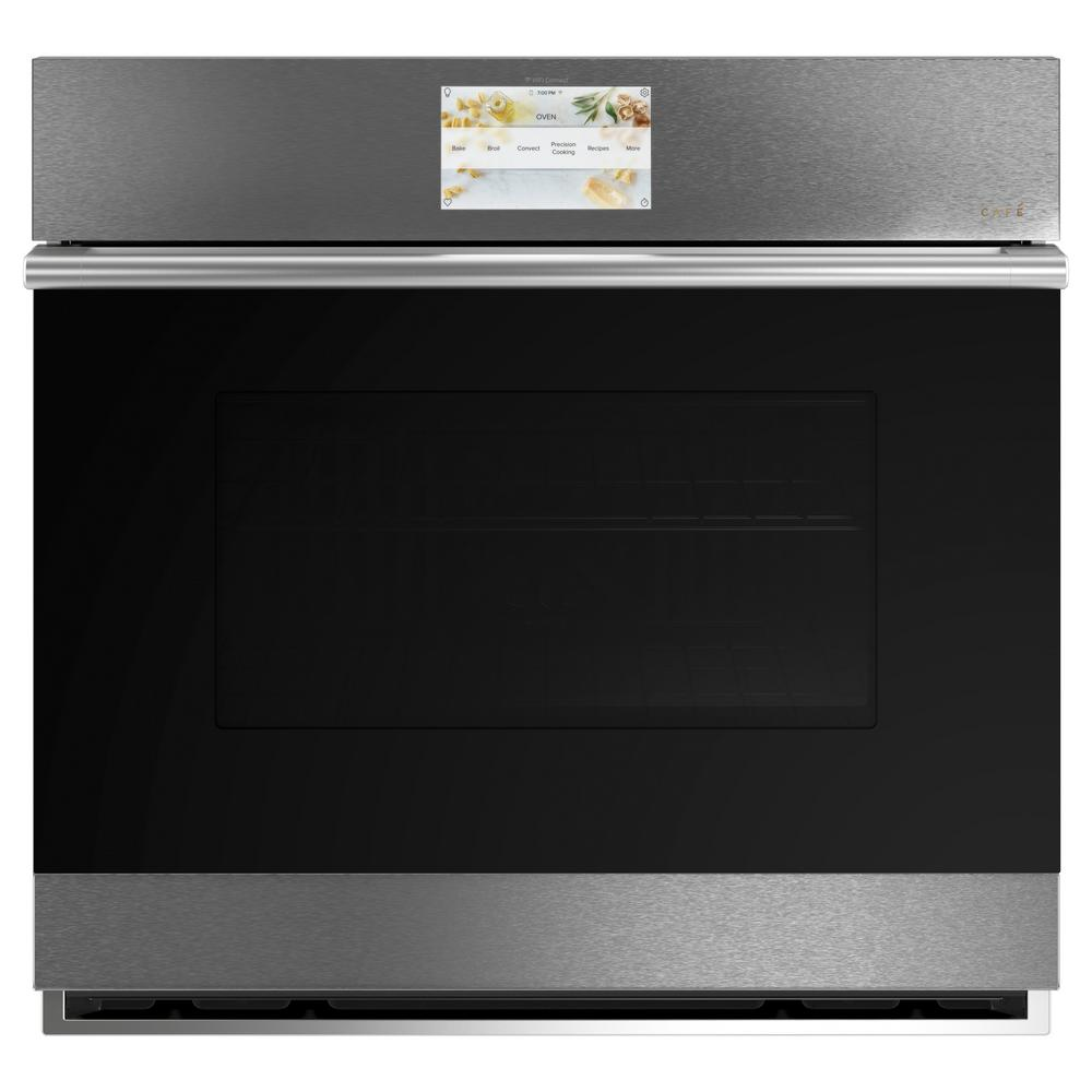 Cafe 30 in. Smart Single Electric Smart Wall Oven with Convection Self-Cleaning and Wi-Fi in Platinum