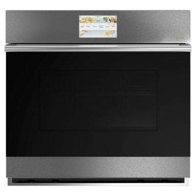 30 in. Smart Single Electric Wall Oven with Convection Self-Cleaning in Platinum Glass