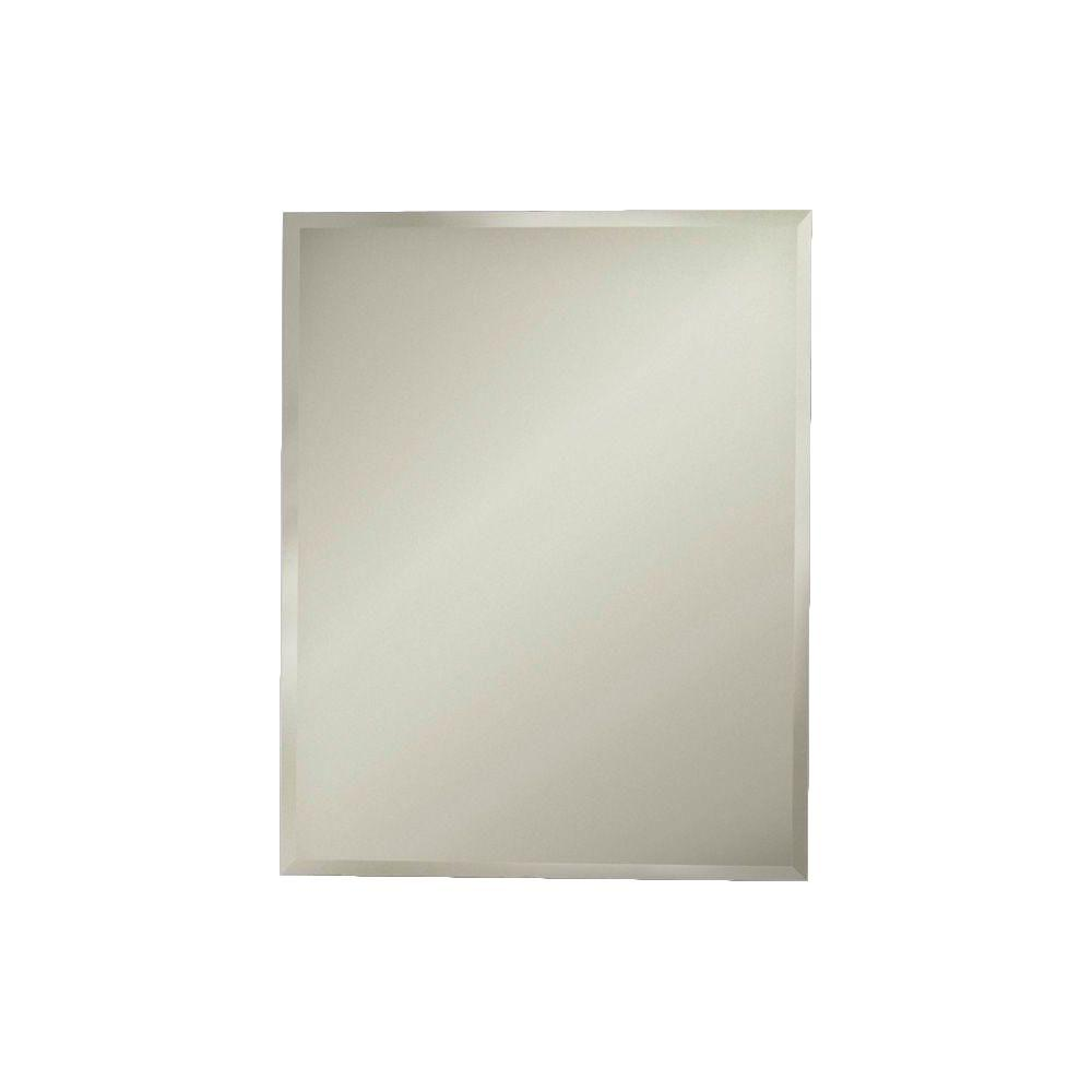 JENSEN Horizon 16 in. W x 26 in. H x 4-3/4 in. D Frameless Recessed Bathroom Medicine Cabinet with Beveled Edge Mirror