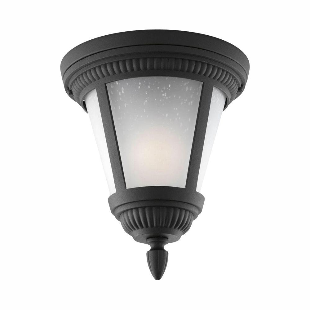 Progress Lighting Westport Collection 1 Light Black Outdoor Flushmount