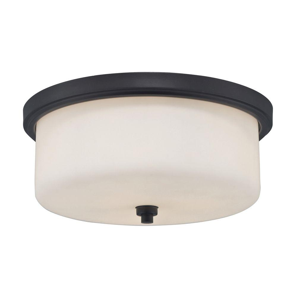 Titan Lighting 3-Light Ceiling Aged Bronze Flush Mount