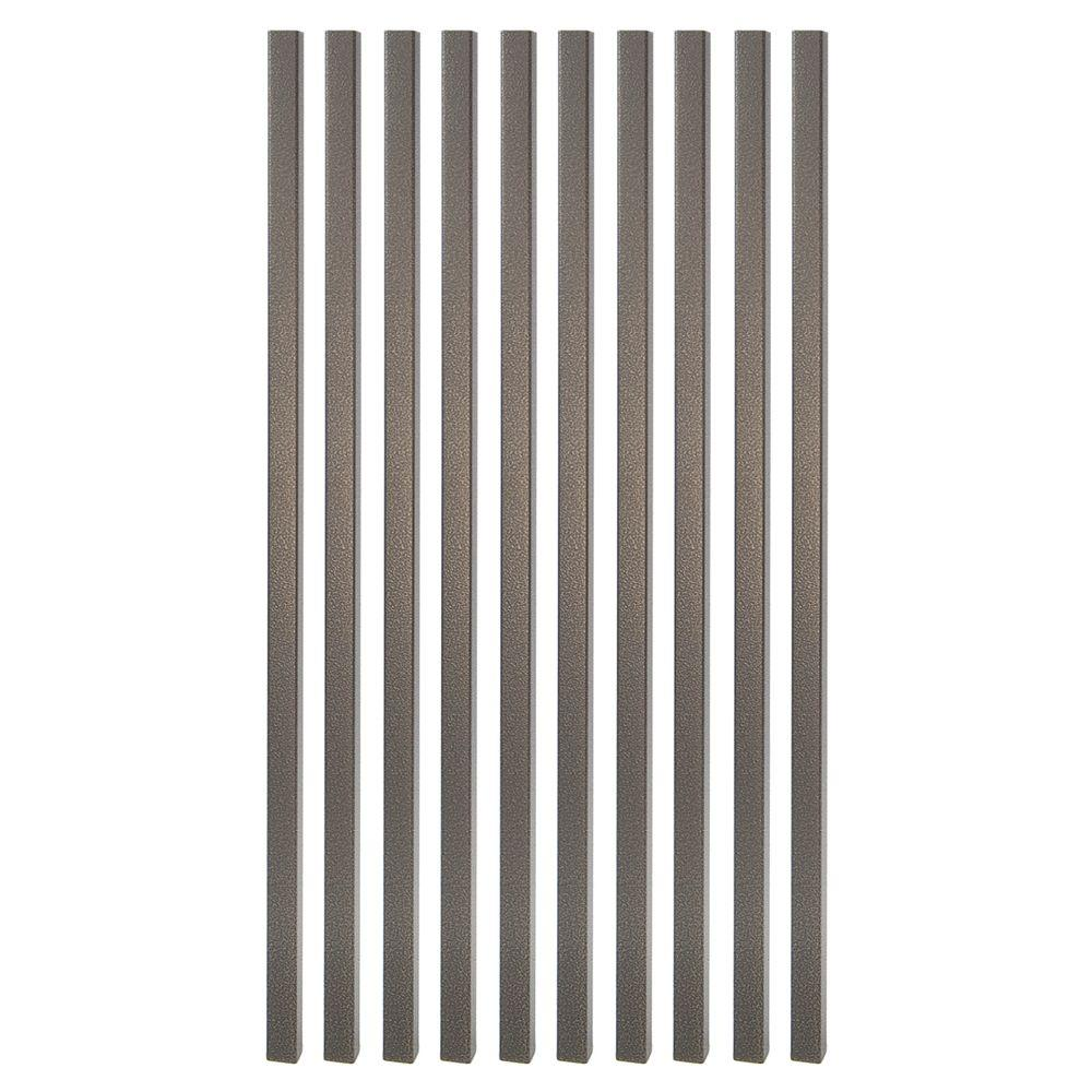 26 in. x 3/4 in. Antique Bronze Steel Square Deck Railing