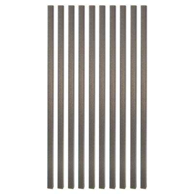26 in. x 3/4 in. Antique Bronze Steel Square Deck Railing Baluster (10-Pack)