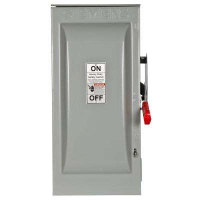 Heavy Duty 100 Amp 240-Volt 2-Pole Outdoor Fusible Safety Switch with Neutral