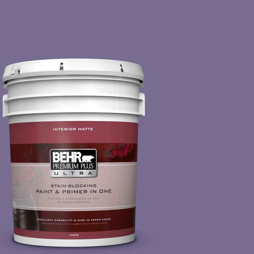 5 gal. #650D-6 Purple Silhouette Flat/Matte Interior Paint